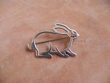 Sterling Silver RABBIT Pin Brooch Navajo
