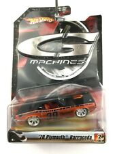 Hot Wheels G Machines 1970 70 Plymouth Barracuda Car Orange/Black Die Cast 1/50