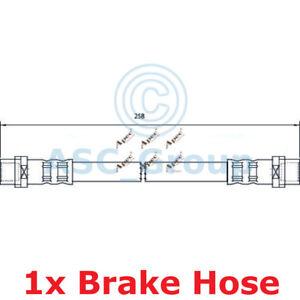 Apec BRAKING 258mm Bremsscheiben Bremssattel Flexible Gummi Schlauch HOS4042