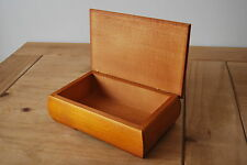 NEW PLAIN  WOODEN JEWELLERY BOX,  IN BROW COLOR