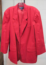 """Ladies """"Herman Geist"""" 1 Button Jacket, Fully Lined RED Size 20"""