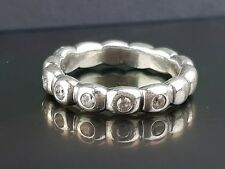 Pandora Ring of Ovals Silver Bubble Stacking Ring 190829 CZK Sz 56 Free Postage