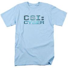 Trevco - Men's CSI Cyber Logo - Light Blue - Adult T-Shirt - Medium