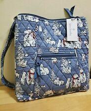NWT $75 Vera Bradley in BEARY MERRY COOL BLUE -  HIPSTER Crossbody Bag