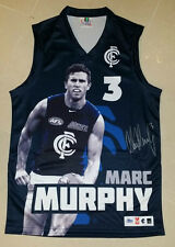 MARC MURPHY SIGNED - CARLTON BLUES OFFICIAL AFL LIMITED PLAYER PICTURE JUMPER