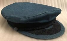 Vintage Greek Fisherman Cap • Made In Greece • 100% Cotton • Size 7 3/4