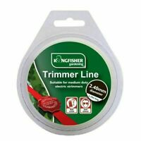 2.4mmx15m STRONG QUALITY GARDEN HEDGE GRASS TRIMMER CABLE LINE WIRE REFILL REEL