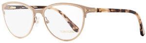 Tom Ford Oval Eyeglasses TF5420 074 Matte Pink/Rose Havana 54mm FT5420