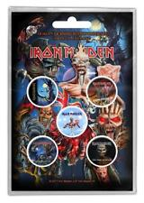 OFFICIAL LICENSED - IRON MAIDEN - LATER ALBUMS 5 BADGE PACK HEAVY METAL