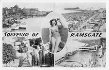uk11724 souvenir of ramsgate  real photo  uk pin up lady