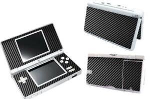 Black Carbon Fiber Vinyl Decal Skin Sticker Cover for Nintendo DS Lite DSL NDSL