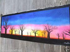 "47""  aboriginal painted Art Painting Abstract Landscape Australia Oil Canvas"