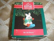 1991 Collectible Hallmark Ornament, Ski Lift Bunny ~T8520