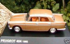 PEUGEOT 404 1965 NOREV HACHETTE MARRON 1/43 BERLINE BROWN SEDAN BOITE BLISTER