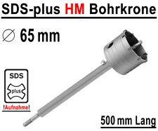 SDS-plus HM Bohrkrone Ø 65mm x 500mm Dosenbohrer Kernbohrer Hartmetall Lochsäge