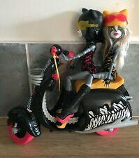 Monster High Ciclomotor y Purrsephone y Meowlody muñecas