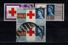 Great Britain GB 1963 Red Cross  SG642-44 Used