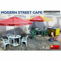 MIN35610 Miniart 1:35 SCALE MODEL KIT  - Modern Street Cafe