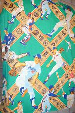 Vintage 1980s MLB Baseball Curtain MLB Baseball JC Penny 40 X 80