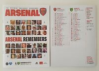 Arsenal v Norwich City Premier League Programme 2019/2020 - July 2020