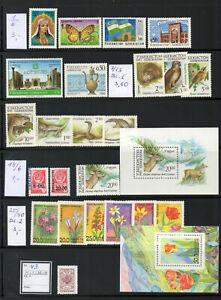 Usbekistan - Sammlung 1992-2002-posrfr. fast komplett
