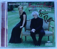 MAGDALENA KOZENA Mozart Arias / SIMON RATTLE signed - CD