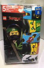LEGO The NINJAGO Movie 5 Pack Boys Briefs Size 8 Kids Underwear 100% Cotton New