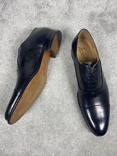 Francesco Benigno Mens Black Leather Oxford Dress Shoes EU45 UK 11 RRP £450