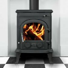 New Heritage Skellig 7kw Wood Log Burner Stove Room Heater Matt Black UK Stock