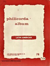 PHILICORDA ALBUM Latin American Collectable Vintage Sheet Music Book BB