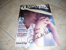 Reba McEntire Magazine Signed Cover Photo Country Music Guaranteed