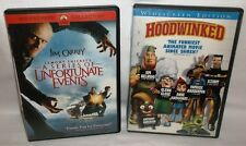 Hoodwinked AND A Series of Unfortunate Events w/ Jim Carrey- 2005 Widescreen