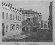 1891= MANTOVA,VIADANA,Piazza Vitt.EMANUELE=MANTUA.Xilo+Passepartout.Etna.Premoli