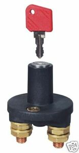 CAMPER CARAVAN BOAT  BATTERY ISOLATOR SWITCH 200AMP KEY TYPE