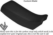 CARBON FIBRE VINYL CUSTOM FITS SUZUKI TSX 125 85-88 DUAL SEAT COVER ONLY