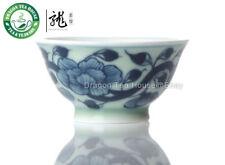 Cotone Rosa * blu & bianca porcellana Tazza 40ml 1.35oz