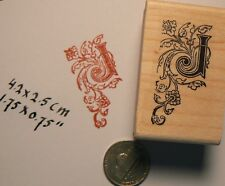 Monogram Letter J rubber stamp  WM P41