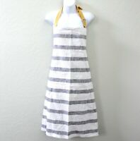 Hearth & Hand with Magnolia Bold Striped Cooking Apron - Railroad Gray & Yellow