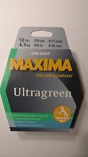 maxima ultragreen 10# One Shot spool 220yds. New Unopened