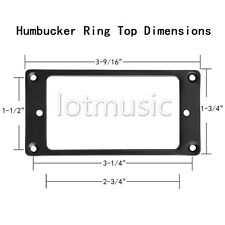 100pcs Flat Metal Humbucker Pickup Mounting Rings Black
