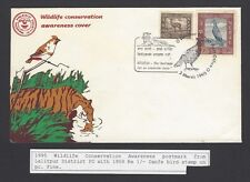 Nepal 1995 Wildlife Conservation cover with 1959 1R Danfe Bird