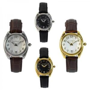 Womens Watch LAURA BIAGIOTTI WAVE Steel Gold Genuine Leather Black Brown Classic