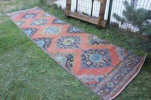 """Vintage Handmade Turkish Oushak Runner Rug 143""""x39"""""""