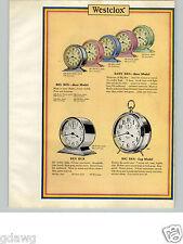 1932 PAPER AD 4 PG Westclox Big Ben Pastrel COLOR Clock Ben Hur Tom Thumb