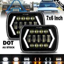Pair 5x7'' 7x6'' LED Headlights w/ DRL for 88-97 Toyota Hilux Pickup Jeep YJ XJ