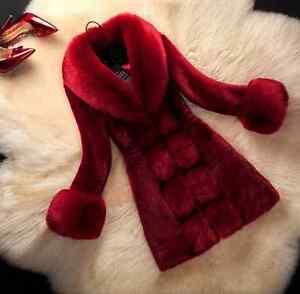2019 New Women's Long Winter Warm Faux Fur Coats Large Collar Overcoats Slim Fit