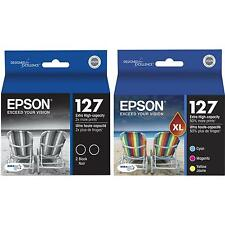 5-PACK Epson GENUINE 127 Black & Color Ink (NO RETAIL BOX) for WORKFORCE WF-3540