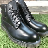 UK9 Solovair Made in England 5 Hole Black Work Boots - Ambulance Service Issued