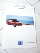 Peugeot 205 Cabriolet CJ CTI 1993 catalogue brochure prospekt commercial sales
