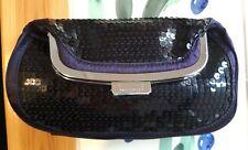 Karen Millen Púrpura Lentejuelas Clutch Bag Nuevo sin etiquetas.